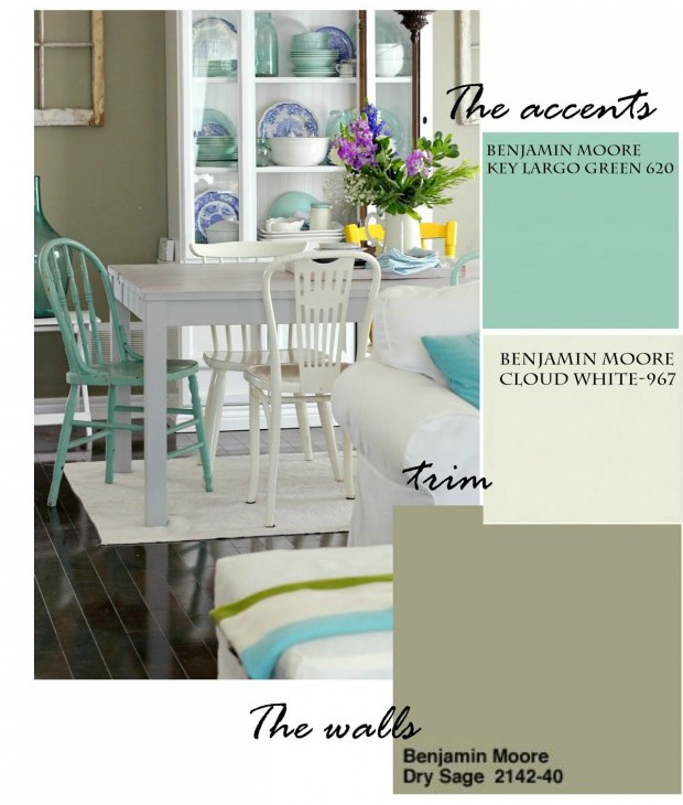 Dining Room Paint Colors - Bloggers' Favorite Paint Colors Series - Craftberry Bush