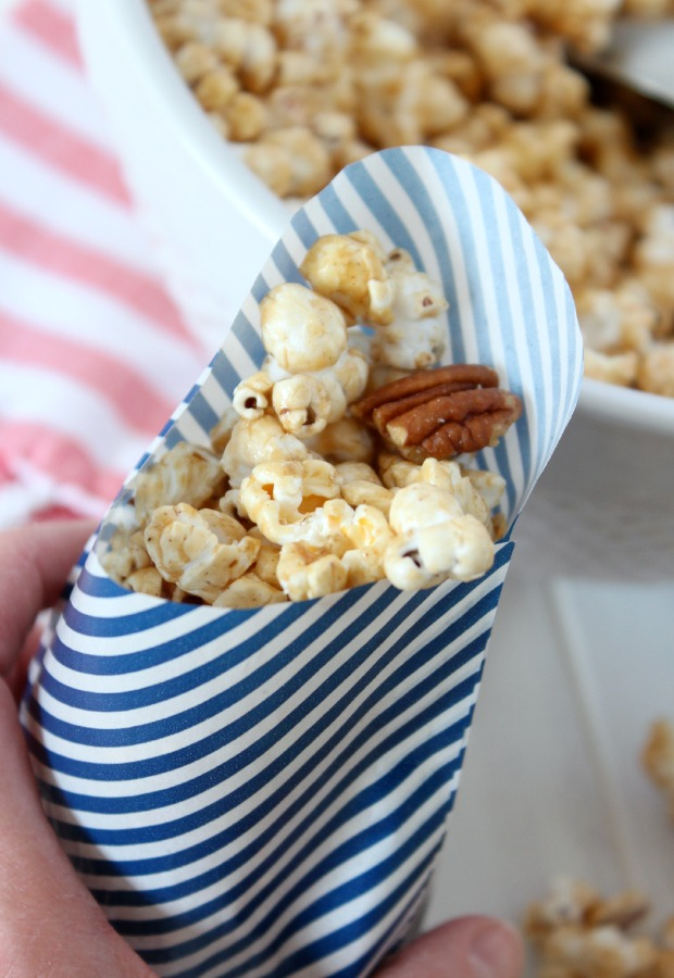 Honey & Cinnamon Caramel Popcorn - Healthier Version Recipe - Perfect Party Snack - Satori Design for Living