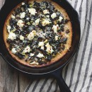 Cast Iron Skillet Recipes - emony Kale & Ricotta Pie by From the Land we Live On