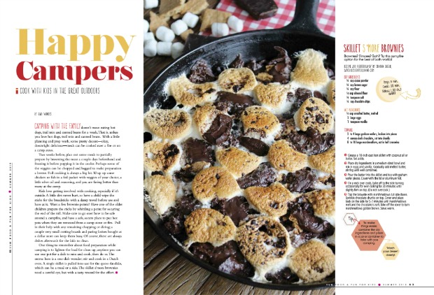 Yum Food and Fun for Kids - Skillet S'more Brownies Camping Dessert Feature
