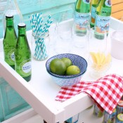 DIY Bar Cart for Outdoor Entertaining - Hack using a thrifted Ikea baby change table - Satori Design for Living