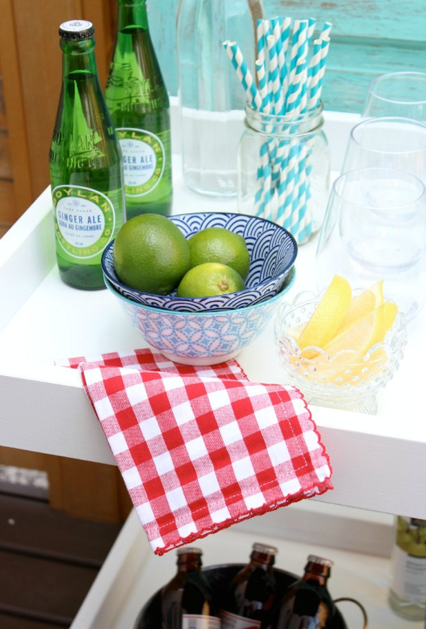 DIY IKEA Bar Cart - Styled Bar Cart for Summer Outdoor Entertaining by Satori Design for Living