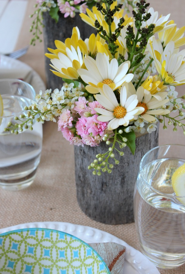 Country garden party table centerpieces satori design