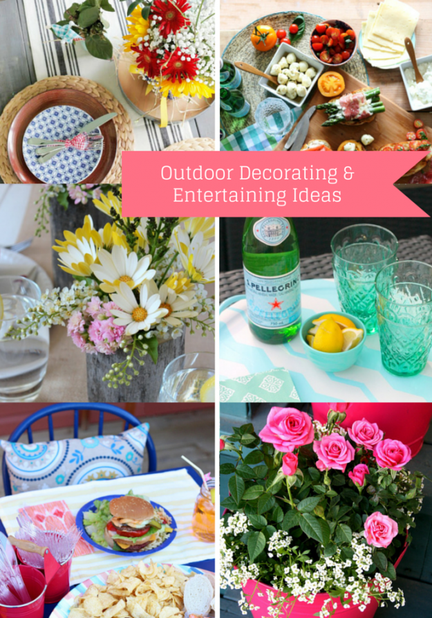 Outdoor Decorating and Entertaining Ideas - Discover more at SatoriDesignforLiving.com