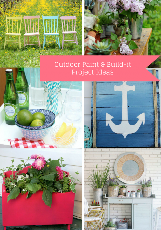 Outdoor Paint and Build-it Project Ideas for the Outdoor Extravaganza hosted by Satori Design for Living