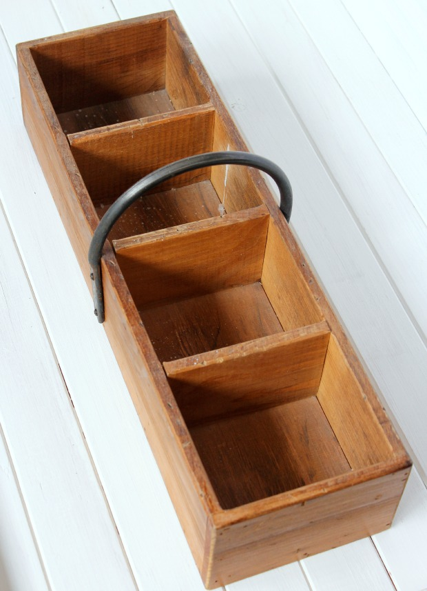 Wooden Vintage Tool Box - Come see how I transformed it in to a flower planter - Satori Design for Living