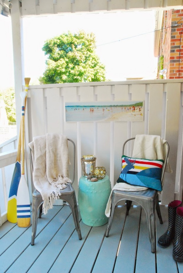 Decorating Outdoor Spaces - Back Porch Makeover Rambling Renovators