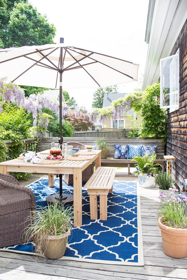 Decorating Outdoor Spaces - Coastal Deck Refresh by Finding Silver Pennies