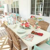 Colorful Outdoor Living Space - Krista Salmon via Kiki's List