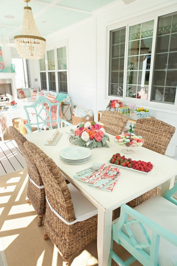 Colourful Outdoor Living Space via Kiki's List