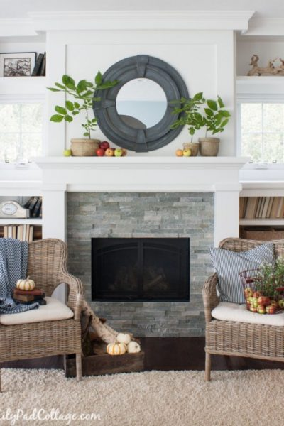 Fireplace Makeover Inspiration   White Mantel   The Lily Pad Cottage