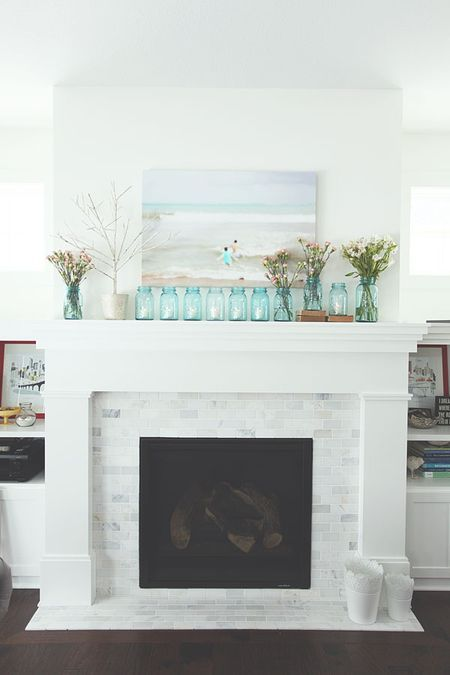 Fireplace Makeover Inspiration via micheleomega.typepad.com