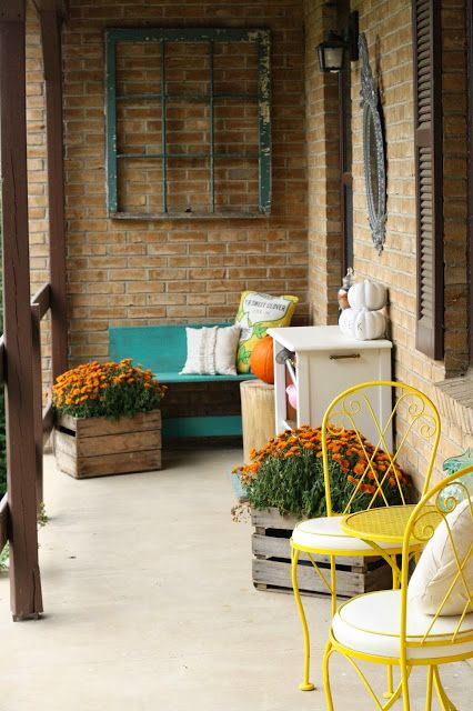 Fall Front Porch Decor - Primitive and Proper