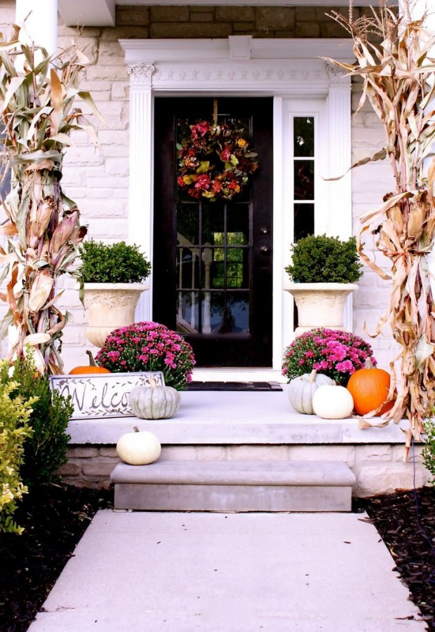 Fall front porch decorating ideas satori design for living - Fall front porch ideas ...