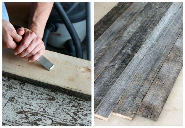 How To Add A Reclaimed Wood Table Top To An Existing Dining Table   Step By