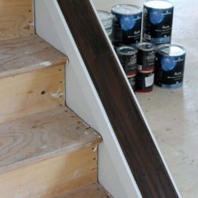 Staircase Update: Stripping & Staining the Wood