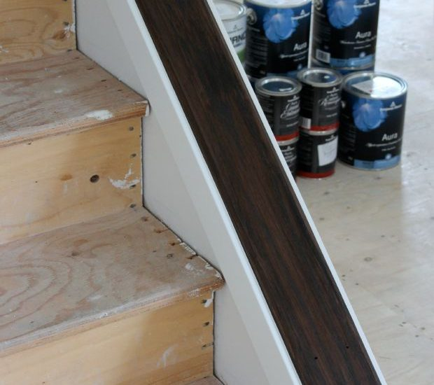 Staircase Update - How to Strip and Stain Wood - Minwax Espresso - Satori Design for Living