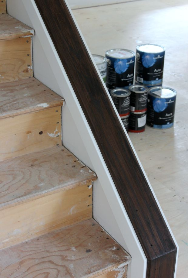 Staircase Update - How to Change Stain Color on Stairs - Minwax Espresso - Satori Design for Living
