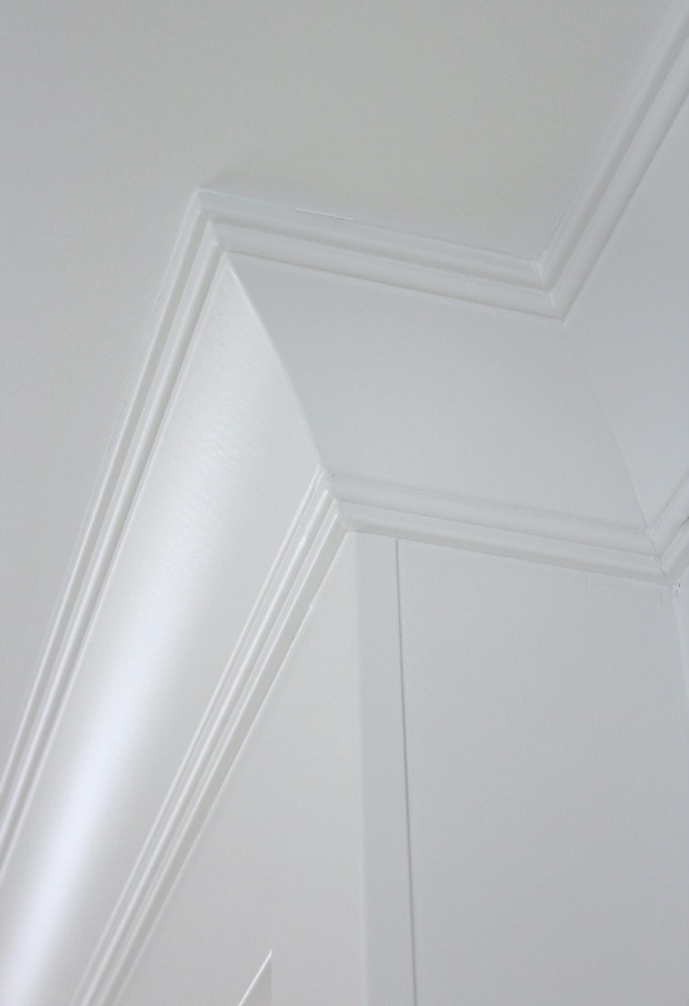 Fireplace Makeover Progress - Living Room Crown Moulding Details - Satori Design for Living