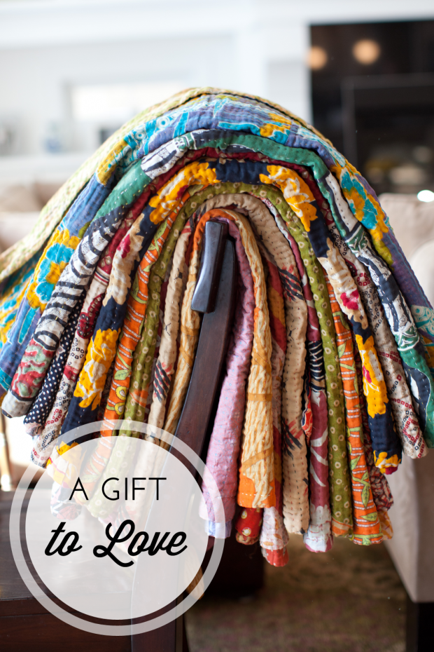 Cotton Kantha Throws from Dignify - Holiday Gifts that Give Back - Meaningful Christmas Gifts Hand Picked by Satori Design for Living