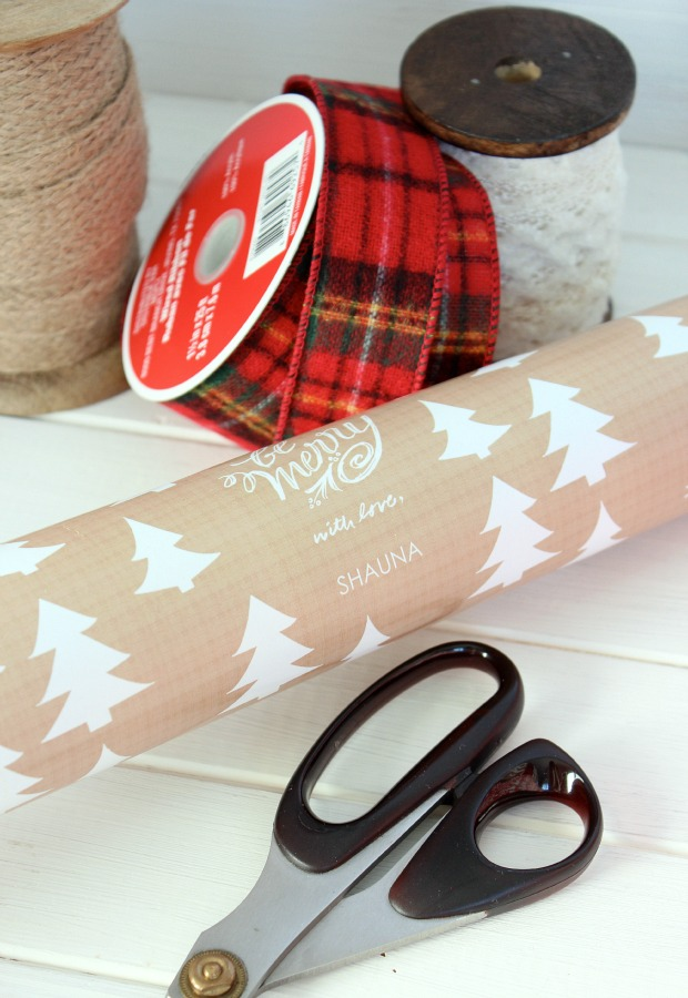 Merry Woodland Personalized Gift Wrap from TinyPrints.com - Satori Design for Living