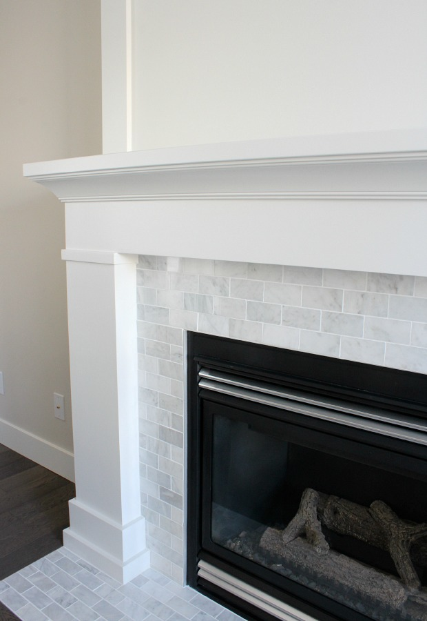 White Amp Marble Fireplace The Makeover Details Satori