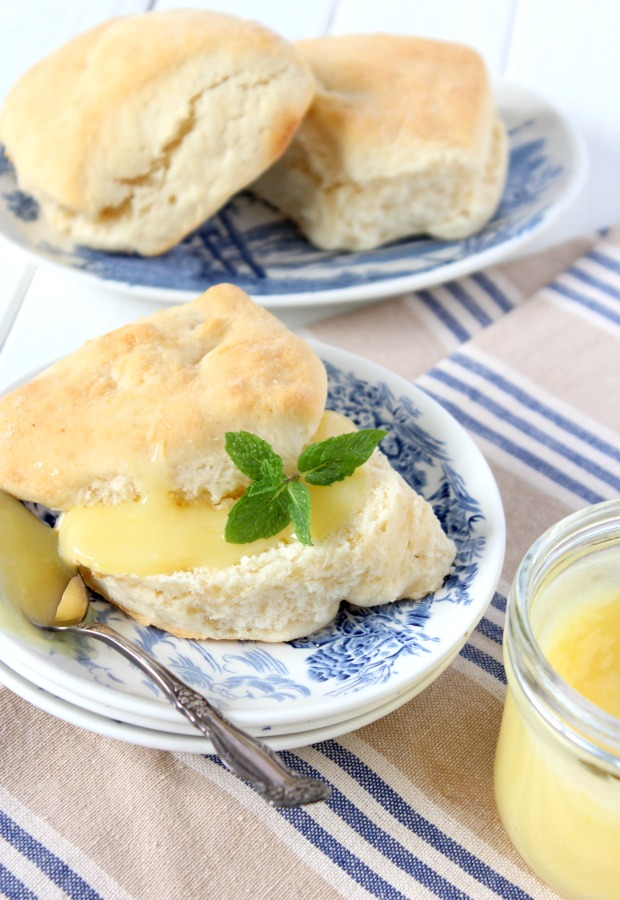Homemade Lemon Curd Recipe - Creamy and tangy spread for scones, crumpets and more! Satori Design for Living