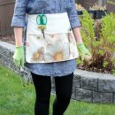 Learn how to sew your own gardening apron with handy pockets for keeping tools and supplies at your fingertips while protecting your clothes! Free Step by Step Instructions at Satori Design for Living