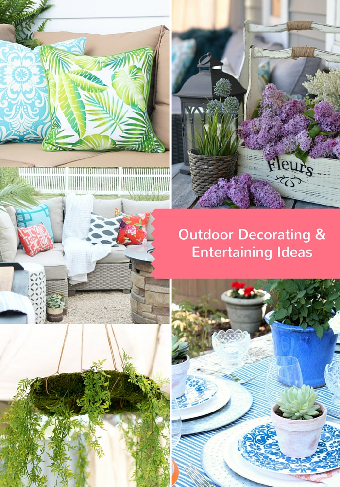 Outdoor Decorating & Entertaining Ideas for the Outdoor Extravaganza - Discover more at SatoriDesignforLiving.com