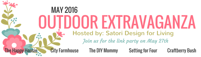 Outdoor Extravaganza Link Party 2016 - Come share your best outdoor projects at SatoriDesignforLiving.com