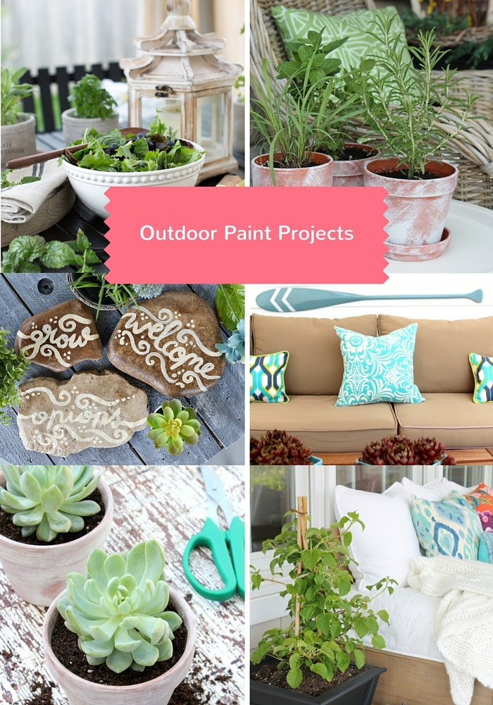 Outdoor Paint Projects for the Outdoor Extravaganza - Discover more at SatoriDesignforLiving.com