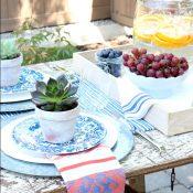 Outdoor Project Ideas - Flea Market Style Outdoor Table Setting - Satori Design for Living