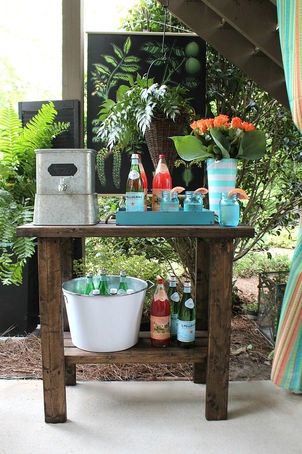 Galvanized Drink Dispenser Beverage Station - Easy and Affordable Outdoor Entertaining Tips - Refresh Restyle
