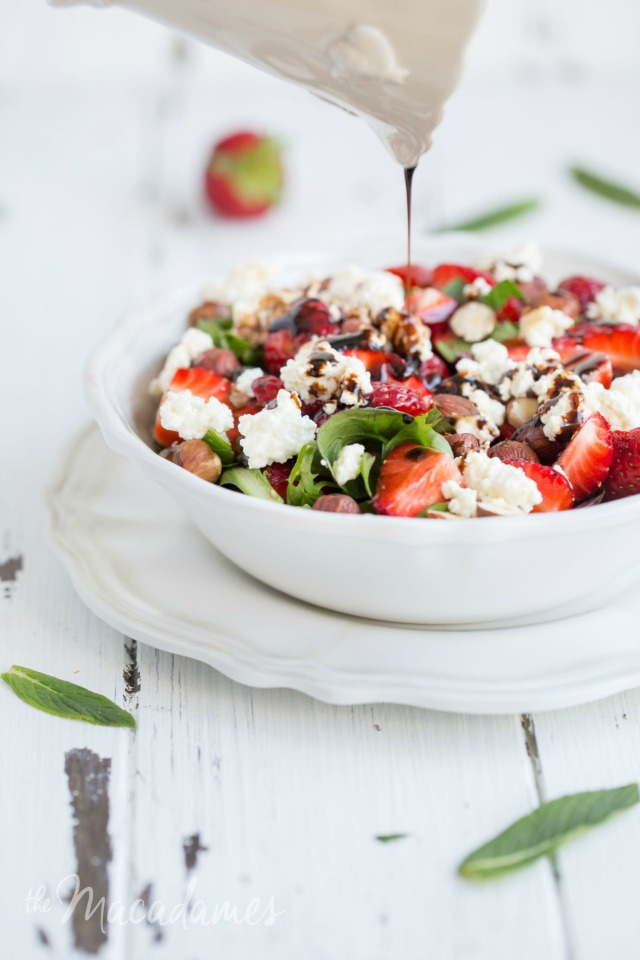 Strawberry Mint Salad with Hazelnuts and Ricotta by The Macadames