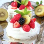 Mini Pavlova with Summer Fresh Fruit