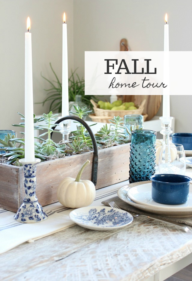 Get inspired by this Canadian Fall Home Tour, including our modern farmhouse kitchen and dining room decorated in eclectic vintage style with a touch of rustic.