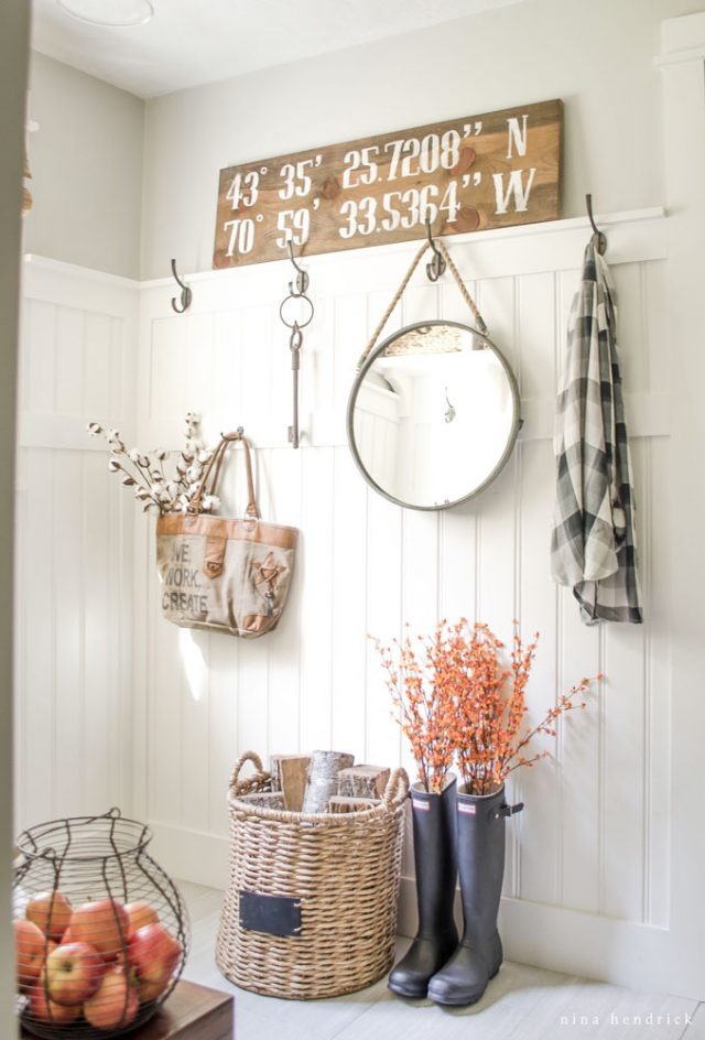Fall Decorating Ideas Using Nature - Entryway by Nina Hendrick