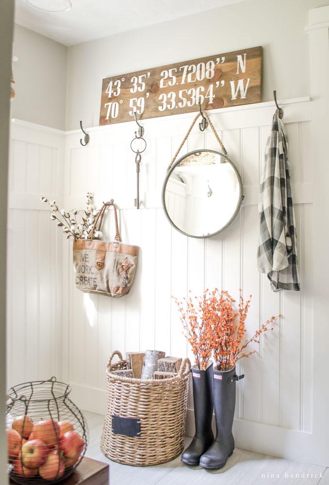 Nina Foyer Table : Fall decorating ideas using nature satori design for living