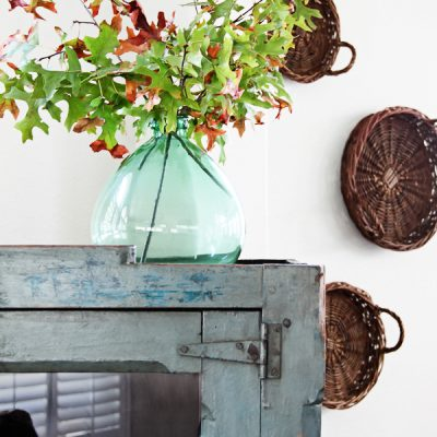Fall Decorating Ideas Using Nature - Fall Branch Arrangement by Maison de Pax
