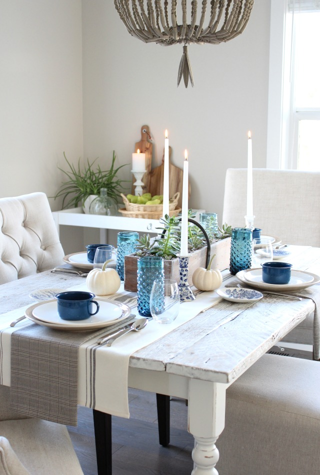 Fall Home Tour - Farmhouse Kitchen Table Decor - Satori Design for Living