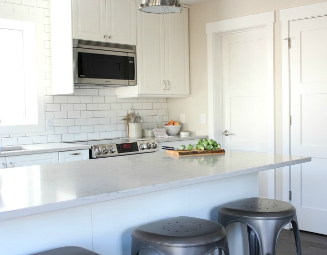 Fall Home Tour - White Ikea Kitchen Cabinets - Satori Design for Living