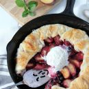Country Style Plum & Saskatoon Berry Skillet Galette - Satori Design for Living
