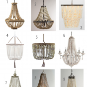 Have your eye on beaded chandeliers? I've rounded up some of my favourite save and splurge options. Come check out which one I picked for our dining room!