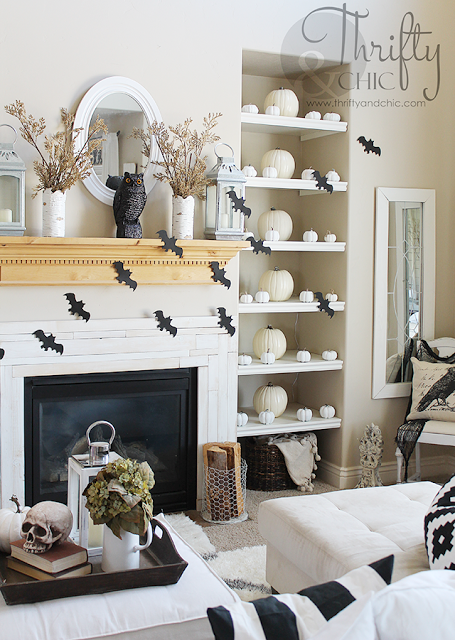 High Quality Chic Halloween Decorating Ideas   Black And White Halloween Living Room  Decor By Thrifty U0026 Chic Part 32