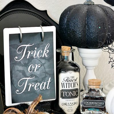 Chic Halloween Decorating Ideas - Potion Bottles by A Pumpkin and a Princess