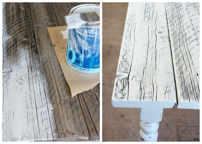 How to White Wash Reclaimed Wood - DIY Farmhouse Table - Satori Design for Living