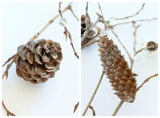 DIY Decorative Twig and Pinecone Christmas Tree Filler - Satori Design for Living