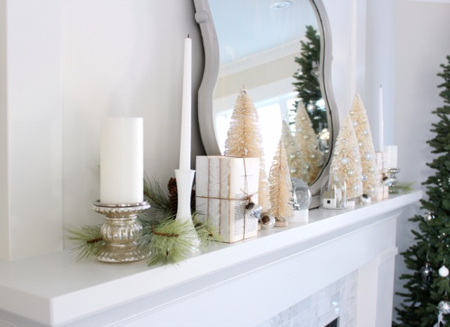 Styling Your Mantel for Christmas - Vintage Winter Wonderland Christmas Decorations