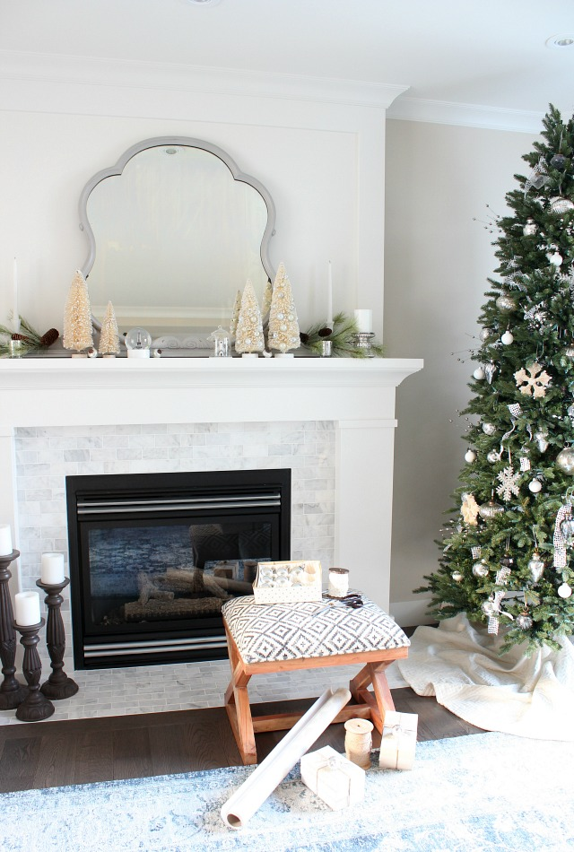 Vintage Winter Wonderland Christmas Mantel - Tips for Decorating a Holiday Mantel