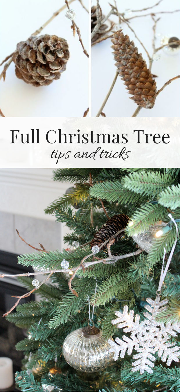 Christmas tree looking a little sparse? Make these twig and pinecone sprays, plus find out other ways to make your Christmas tree look fuller.